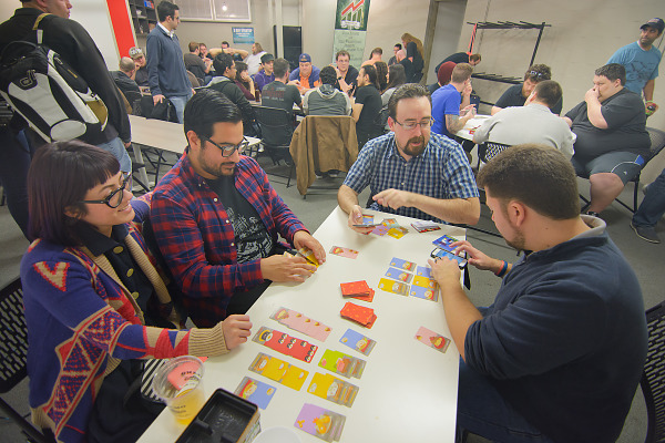 Players at the board game meetup pre PAX South 2016 002