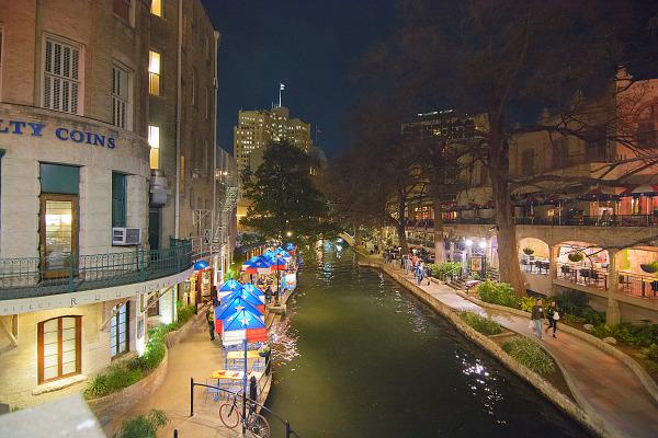 San Antonio Riverwalk at night near PAX South 2016