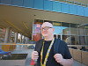 paxsouth-2016 > Jerry Holkins aka Tycho Brahe of Penny Arcade outside the San Antonio Convention Center