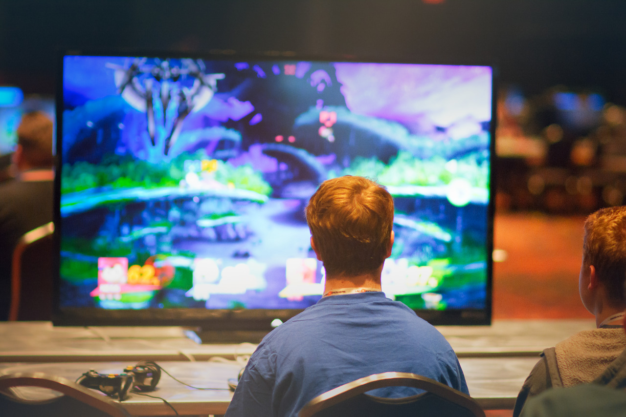 Players at the console area at the Penny Arcade Expo