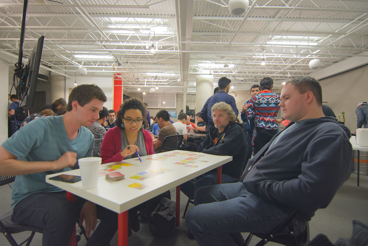 Players at the board game meetup pre PAX South 2016