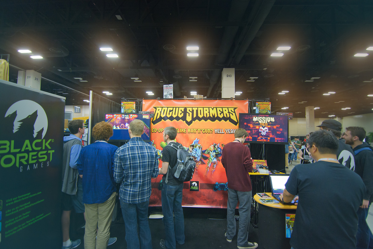 Rogue Stormers Booth on showfloor of PAX South 2016