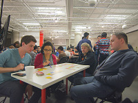 paxsouth-2016 > Players at the board game meetup pre PAX South 2016