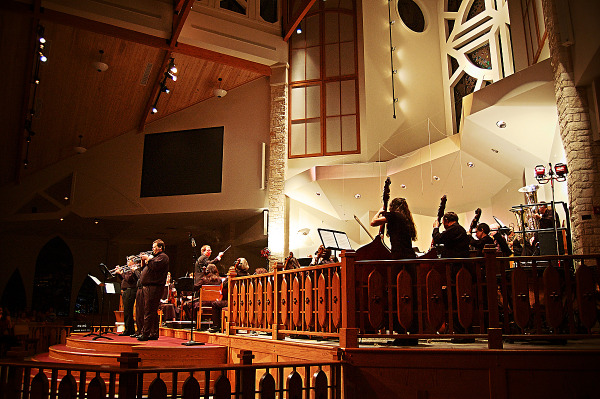 Concert ensemble in the First United Methodist church