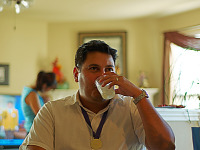 pflugerville-texas > Tony drinking at baby shower