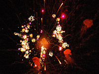 pflugerville-texas > Chaotic fireworks explosion on Lake Pflugerville