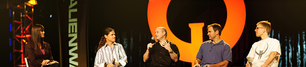 Quakecon 2011 - Panorama of Webb, Hollenshead, Willits, Cloud, Carmack