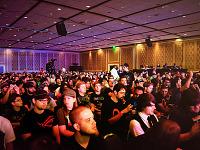 quakecon-dallas-2011 > Quakecon 2011 - room full of people at Skyrim demo by Bethesda