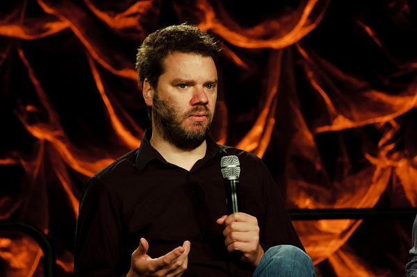 Chet Faliszek talking at the modding panel at Quakecon 2012