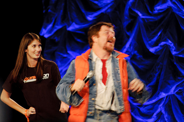 Marty McFly and Jennifer of Back to the future at Master Pancake, Quakecon 2012