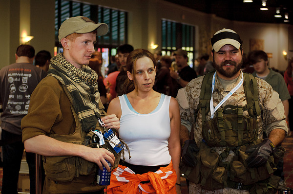 Portal and military cosplayers at Quakecon 2012