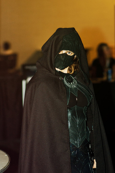 Nightingale from Skyrim cosplay at Quakecon 2012