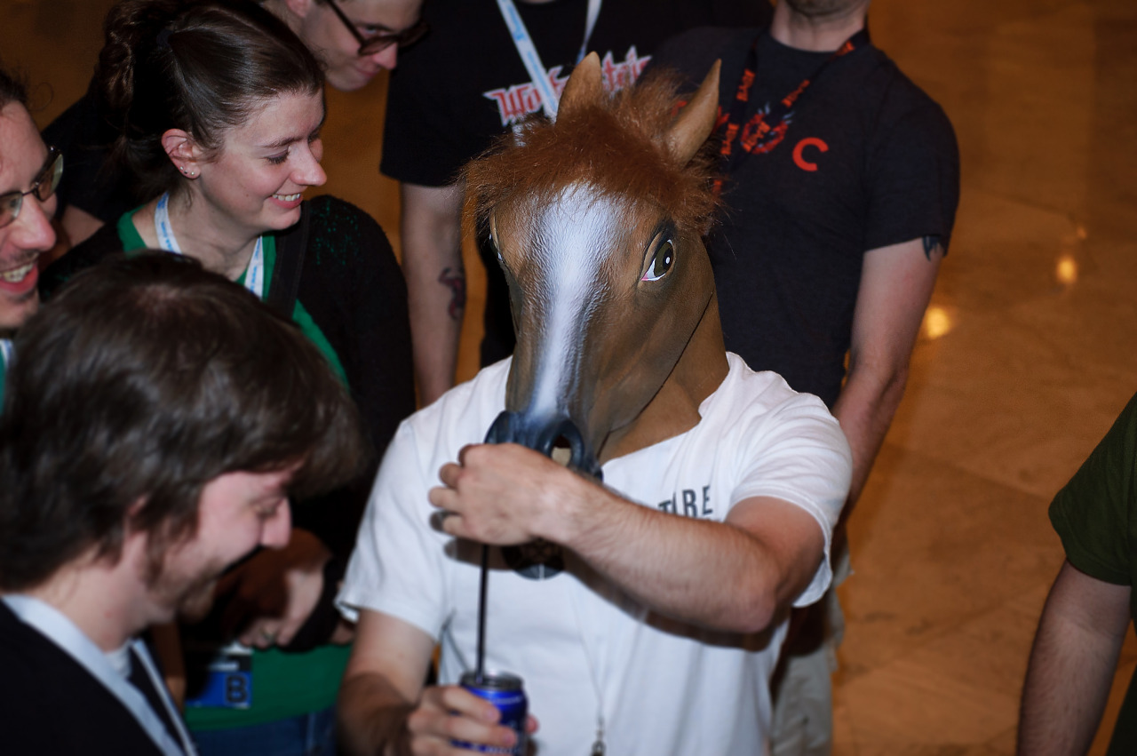 Horse waiting for a talk at Quakecon 2012