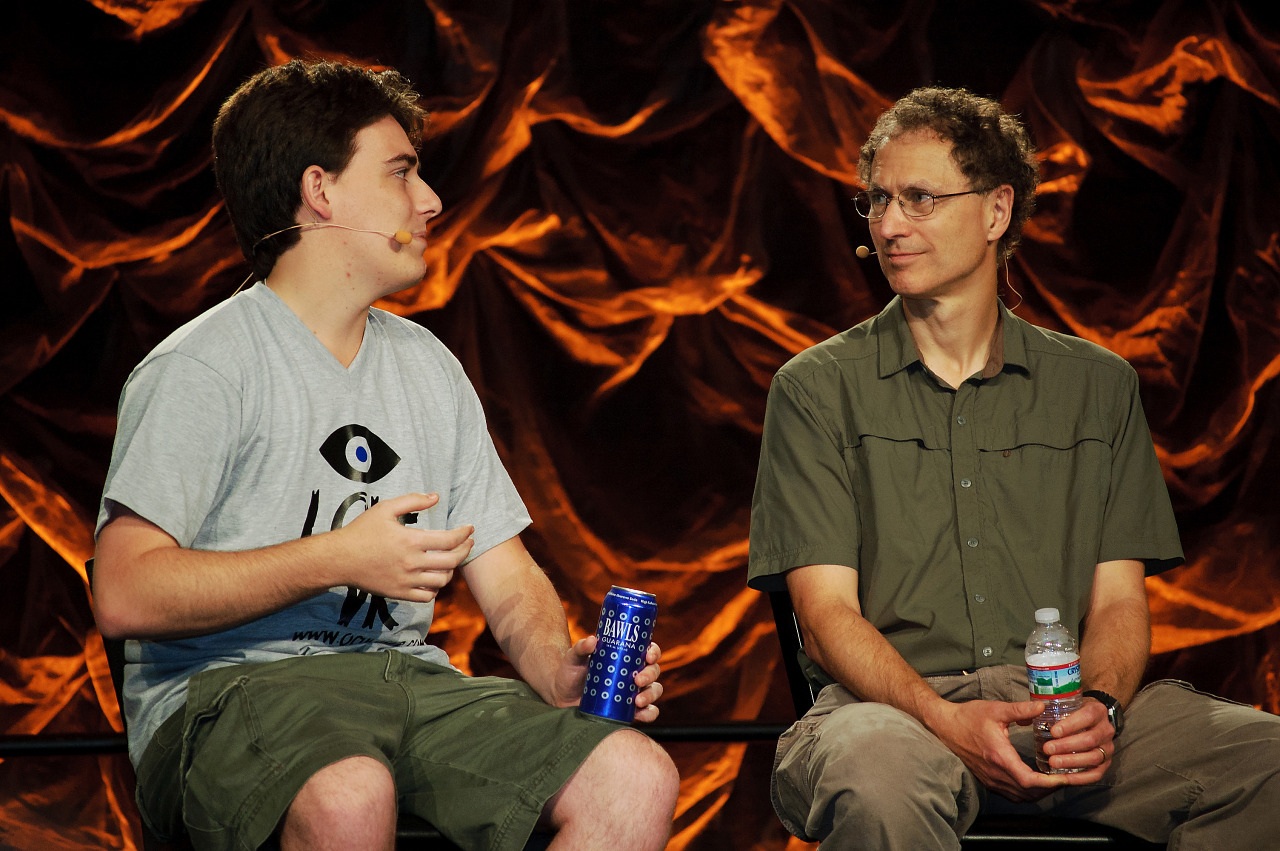 Palmer Luckey, Michael Abrash at VR panel of Quakecon 2012
