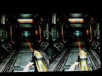 quakecon-dallas-2012 > Doom 3 BFG screenshot with Oculus Rift distortion at Quakecon 2012