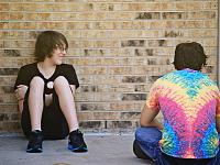 quakecon-dallas-2012 > Guy with rainbow shirt at Quakecon 2012