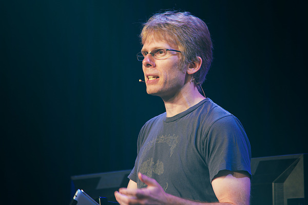 John Carmack of id software at Principles of Light and Rendering talk Quakecon 2013