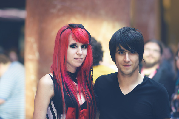 Scarlet Hair girl and guy at Quakecon 2013