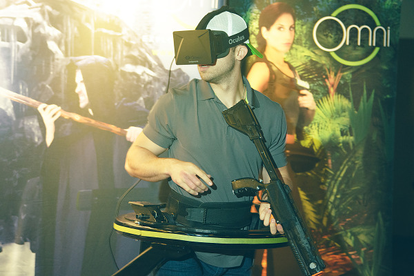 Virtuix Omni with Oculus Rift and Kinect demo at Quakecon 2013