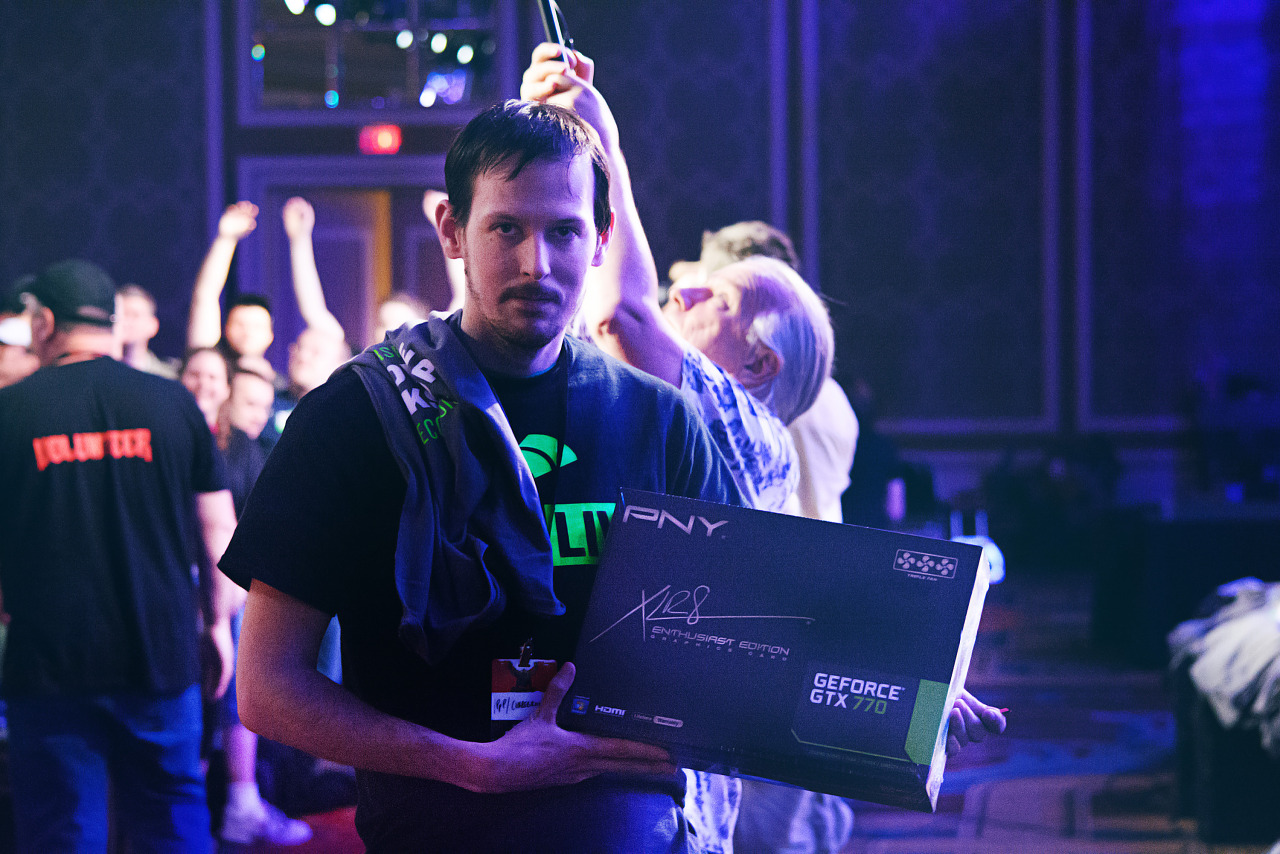 Lucky winner of a Geforce GTX 770 at Quakecon 2013 02