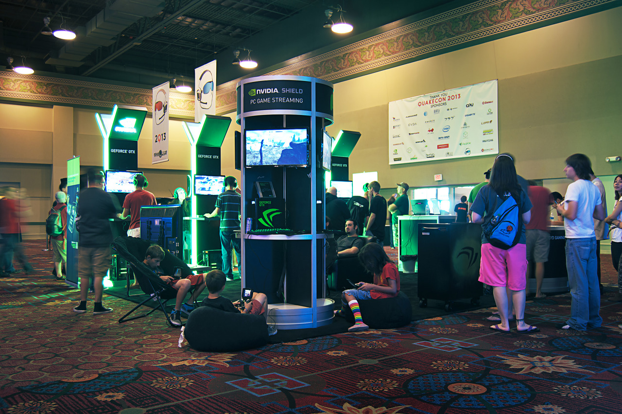 Nvidia Booth With Shield demo at Quakecon 2013