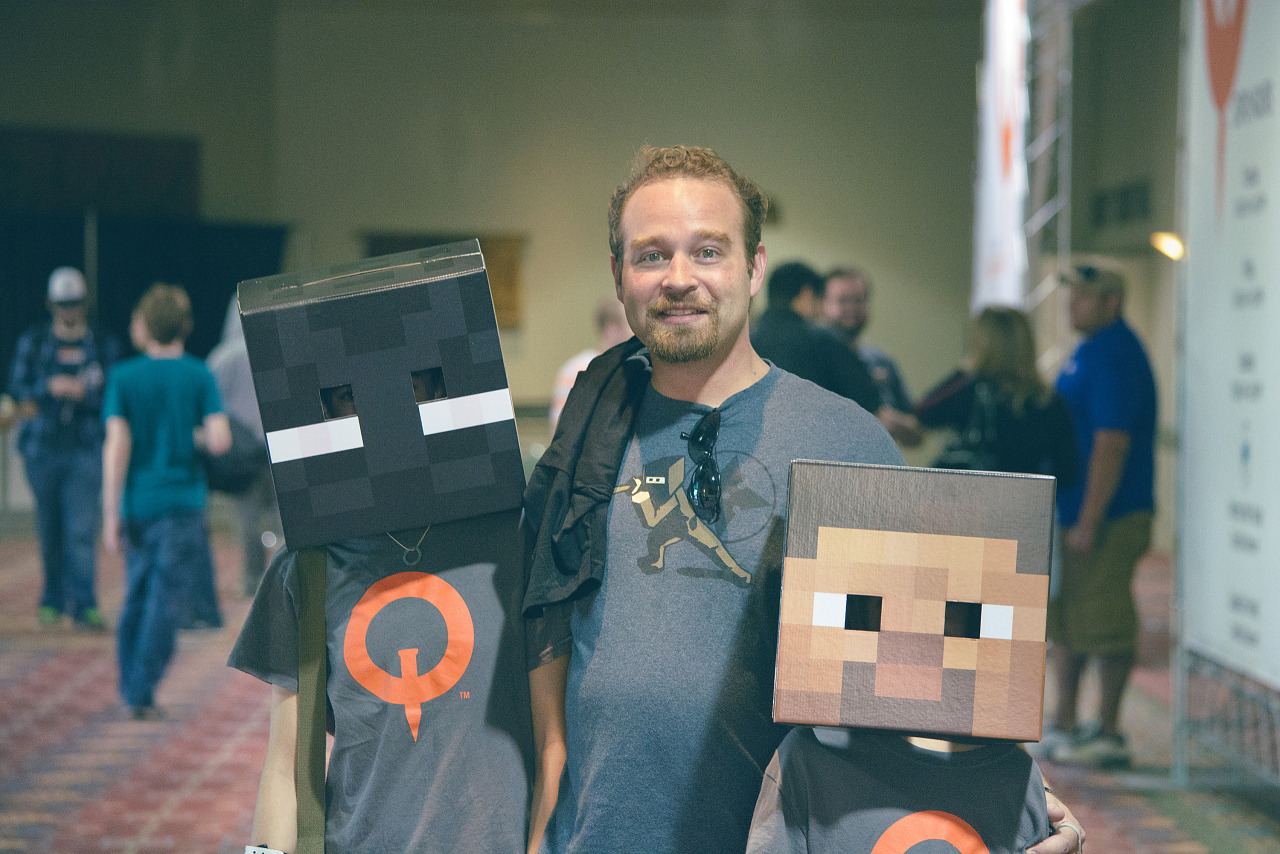Pixel family from Minecraft at Quakecon 2013