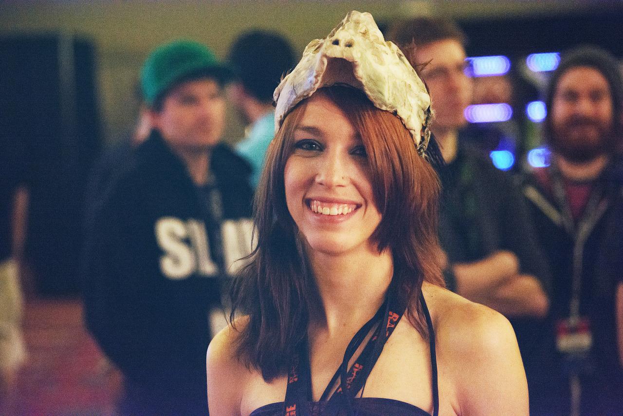 Portrait of a Quake Hunter cosplayer at Quakecon 2013