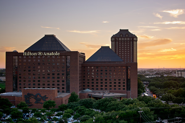 Hilton Anatole view at sunset