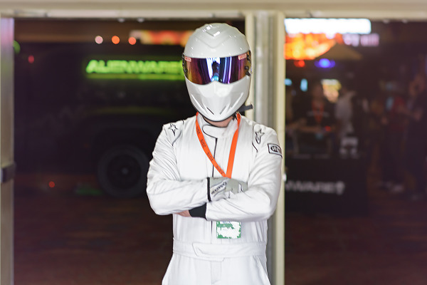 The Stig Topgear costume at Quakecon 2015