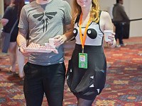 quakecon-dallas-2015 > Gamers with Panda Dress at Quakecon 2015