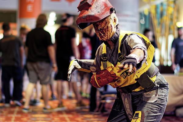 Cosplay of the Doom Welder Zombie