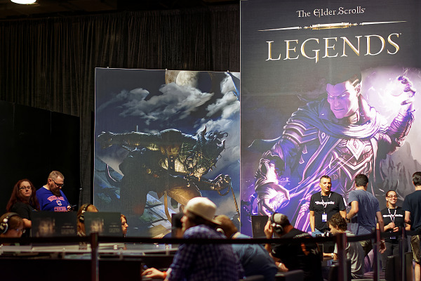 Demo of the Elder Scrolls Legends card game on Quakecon showfloor