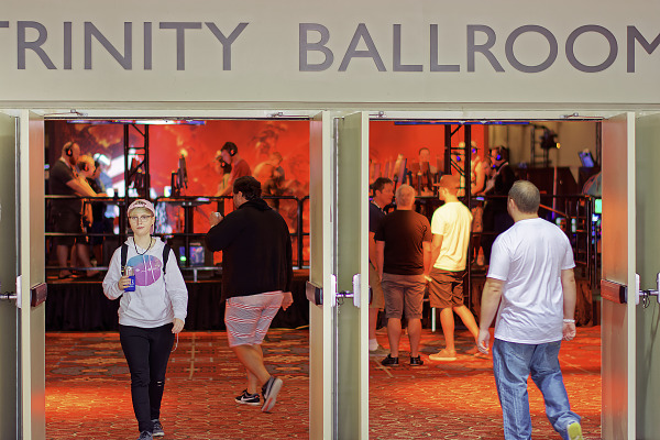Entrance to the Trinity Ballroom showfloor area of Quakecon 2016