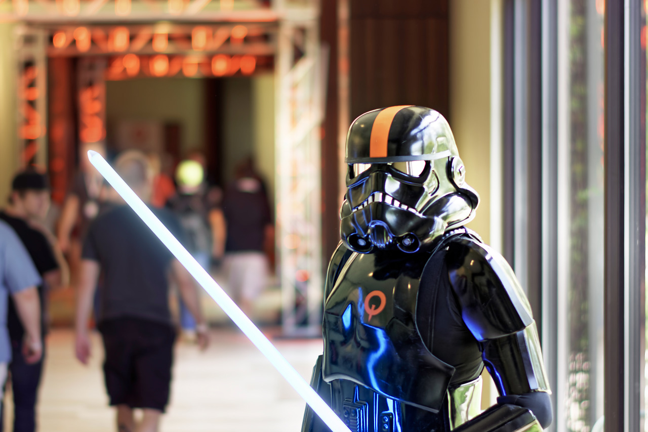 Shadow trooper with light saber Quakecon cosplay