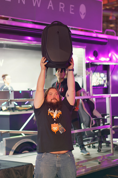 Winner of an Alienware case at Quakecon 2017