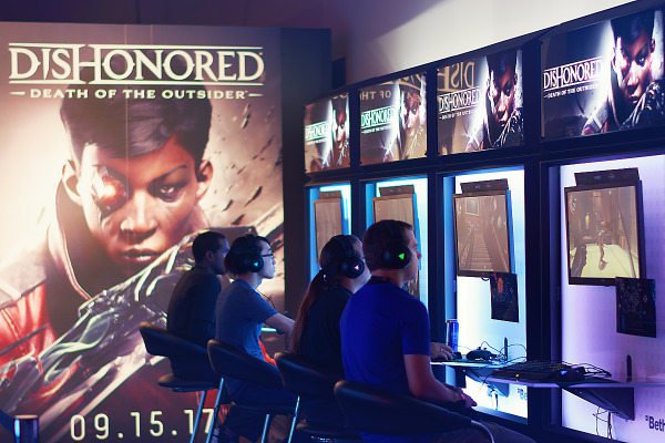 Dishonored Death of the Outsider booth and demo at Quakecon 2017