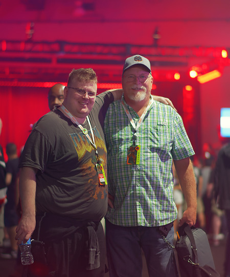 Father and son attendees at Quakecon 2017
