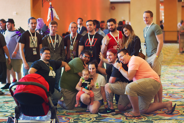 Friends and family group pictures at Quakecon 2017