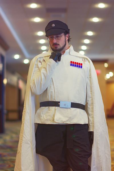 Cosplay of Orson Krennic of Starwars Rogue One at Quakecon 2017