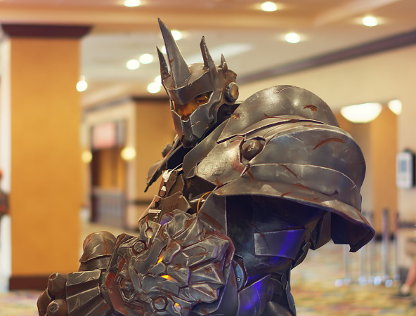 Full armor cosplay of Reinhardt from Overwatch at Quakecon 2017