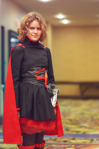 Ruby Rose from RWBY cosplay at Quakecon 2017