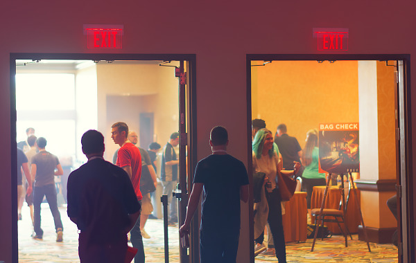 BYOC and showfloor entrance at Quakecon 2017