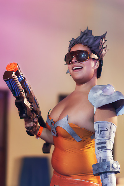 Cosplay of Slash of Quake Champions at Quakecon 2017