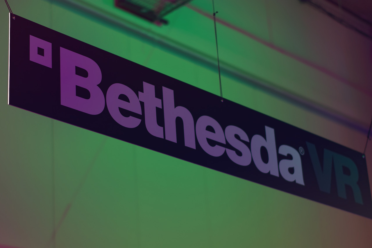 Bethesda VR banner on the Showfloor of Quakecon 2017