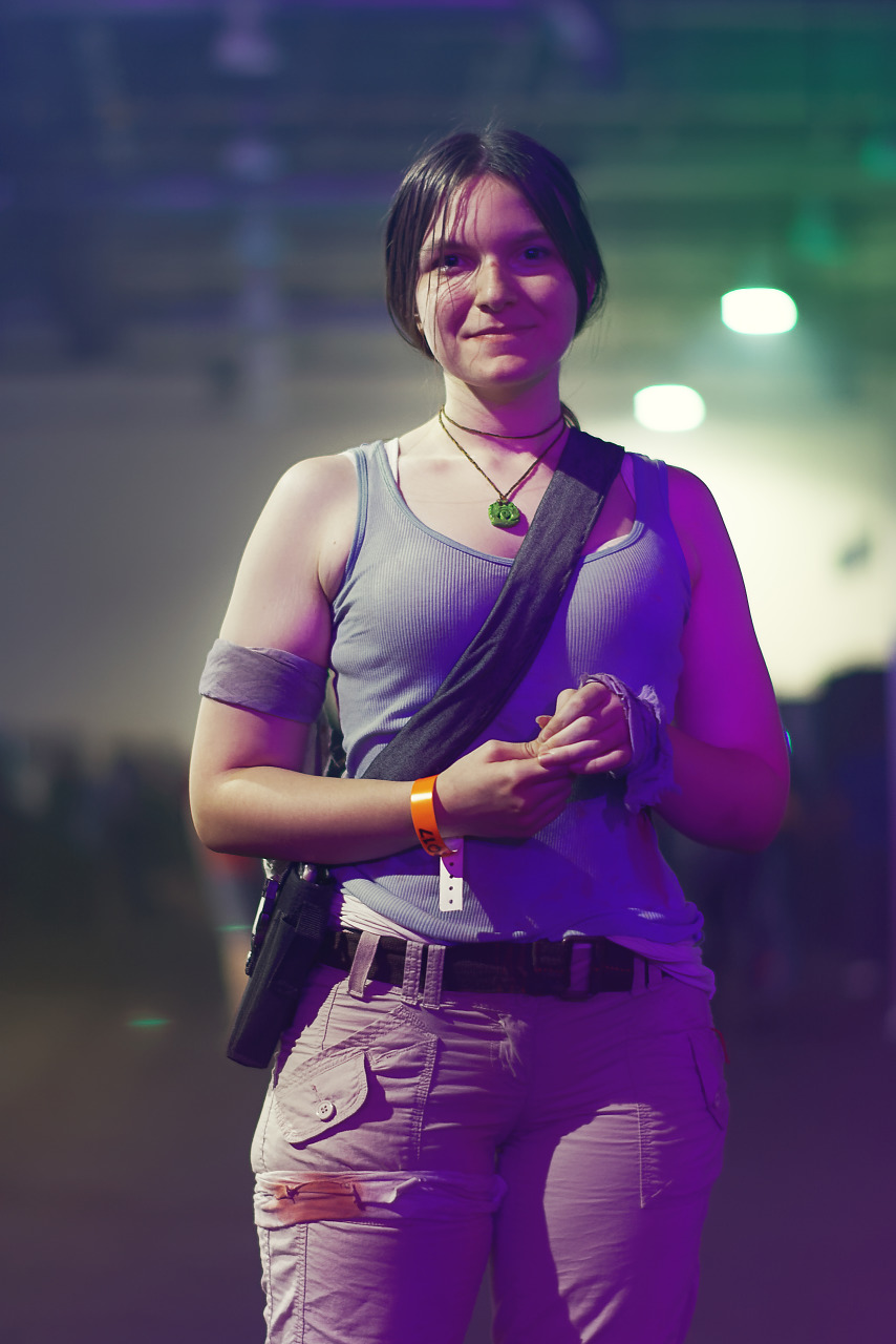 Lara Croft as seen in the latest Tomb Raider game at Quakecon 2017
