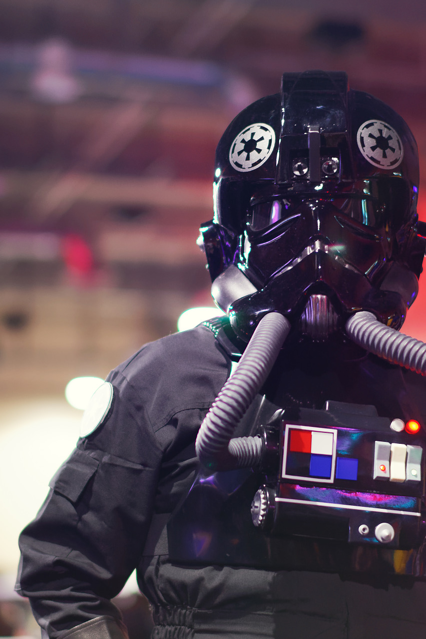 A Tie Pilot cosplay from Starwars at Quakecon 2017