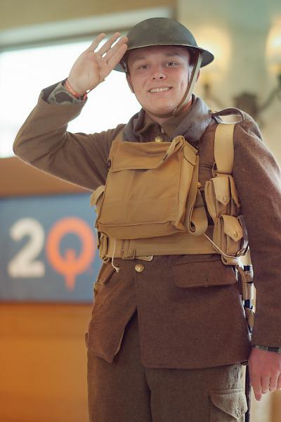 World War I reenactement as British Soldier during Quakecon 2018