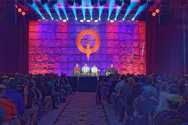 Fallout 76 Keynote main stage audience at Quakecon 2018