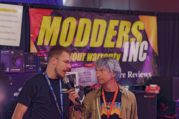Modders inc booth interview on the showfloor of Quakecon 2018