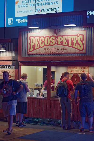 Pecos Pete's drink stand at BYOC of Quakecon 2018